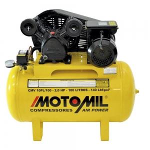 Compressor de Ar 10 Pés 100 Litros 140 Libras Mod. CMV 10PL/100 - Motomil