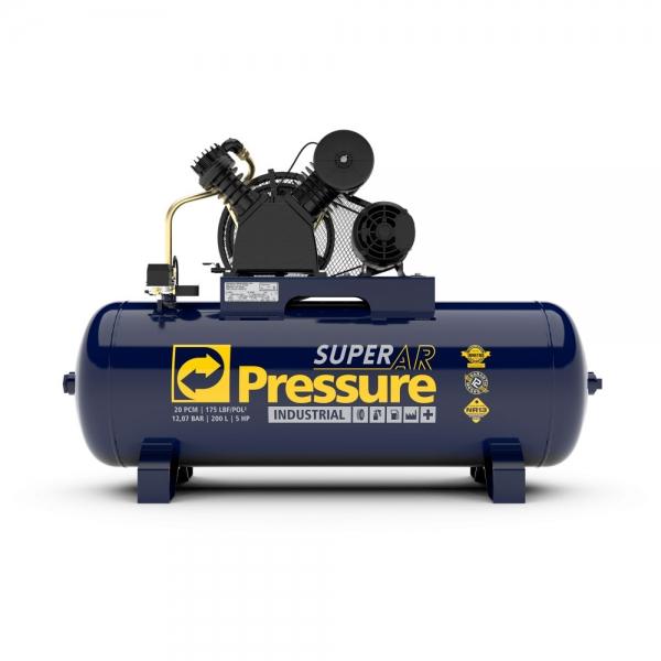 Compressor de Ar 20 Pés 200 Litros 175 Libras Mod. SUPER AR - Pressure